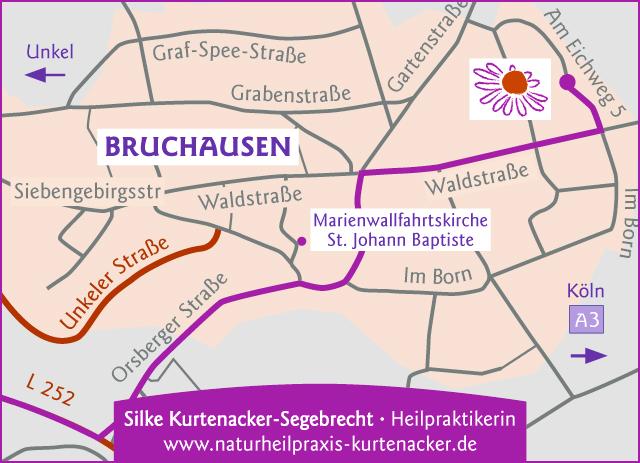 Anfahrtskizze für Silke Kurtenacker-Segebrecht, Heilpraktikerin